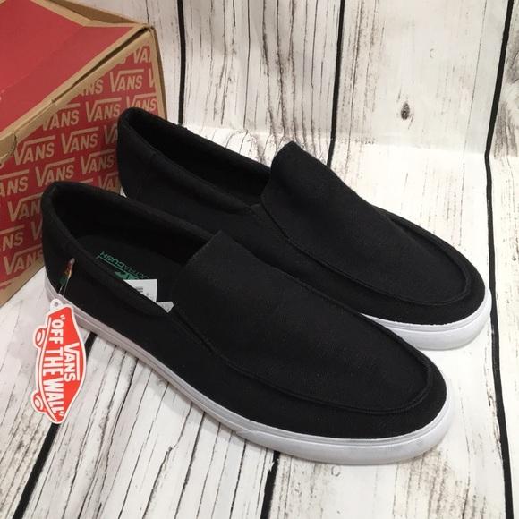 17d029260e42 VANS Bali SF Hemp Slip On Black Shoes Size 6.5
